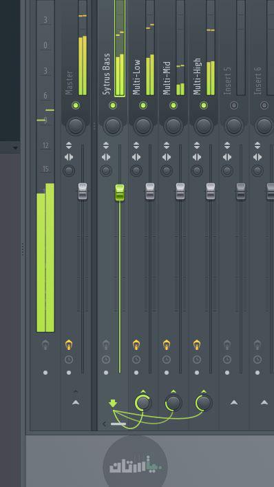 اتصال یک لاین به لاین های دیگر در میکسر اف ال استودیو