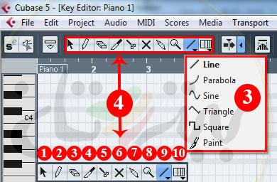 ابزارهای MIDI در کیوبیس