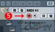 ضبط تراک MIDI در کیوبیس