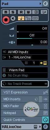 تنظیمات تراک MIDI در کیوبیس