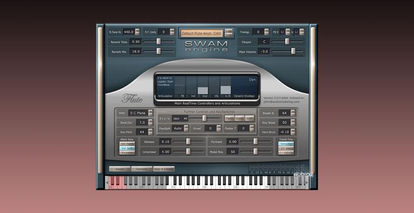 وی اس تی فلوت Audio Modelling SWAM Engine SWAM Flutes