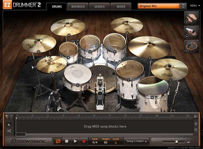 وی اس تی ez drummer 2
