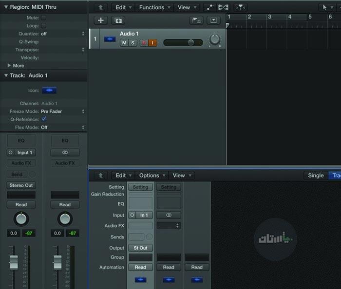 خروجی Audio در Logic Pro X