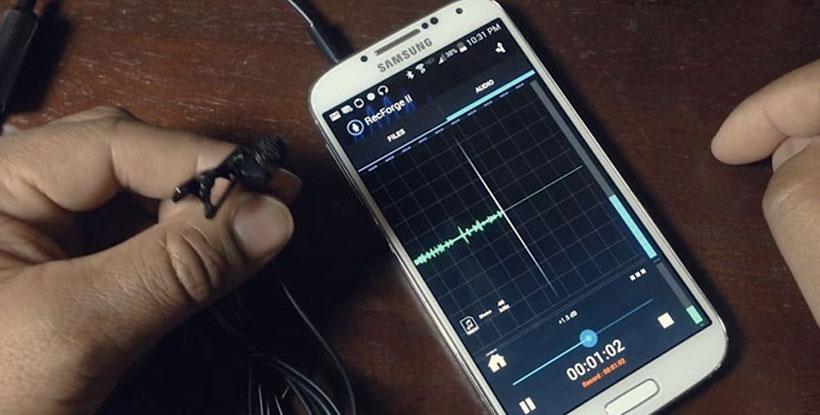 ضبط صدا با موبایل