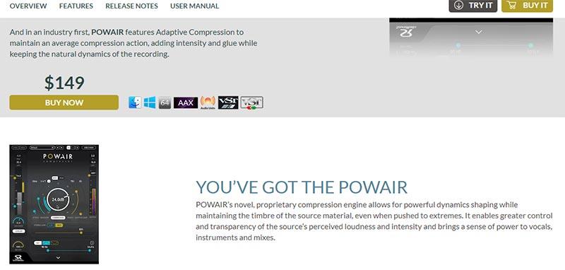 قیمت دانلود پلاگین Sound Radix POWAIR
