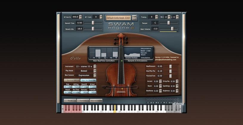 دانلود وی اس تی چلو Audio Modelling SWAM engine SWAM Cello