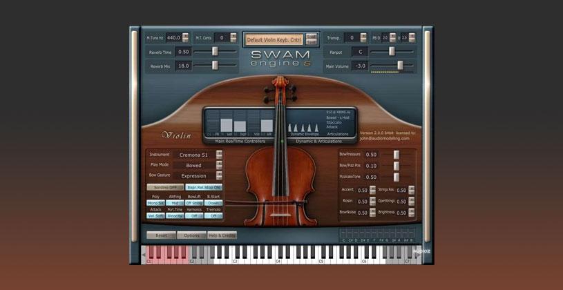 وی اس تی ویولن Audio Modelling SWAM Engine SWAM Violin