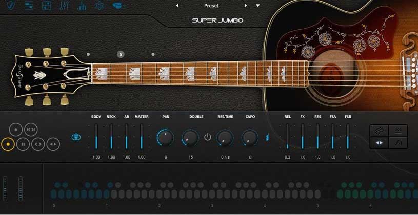 وی اس تی گیتار Ample Sound Guitar SJ III
