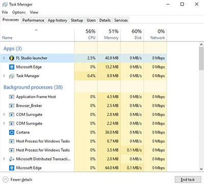 چک کردن مشخصات کامپیوتر برای آهنگسازی