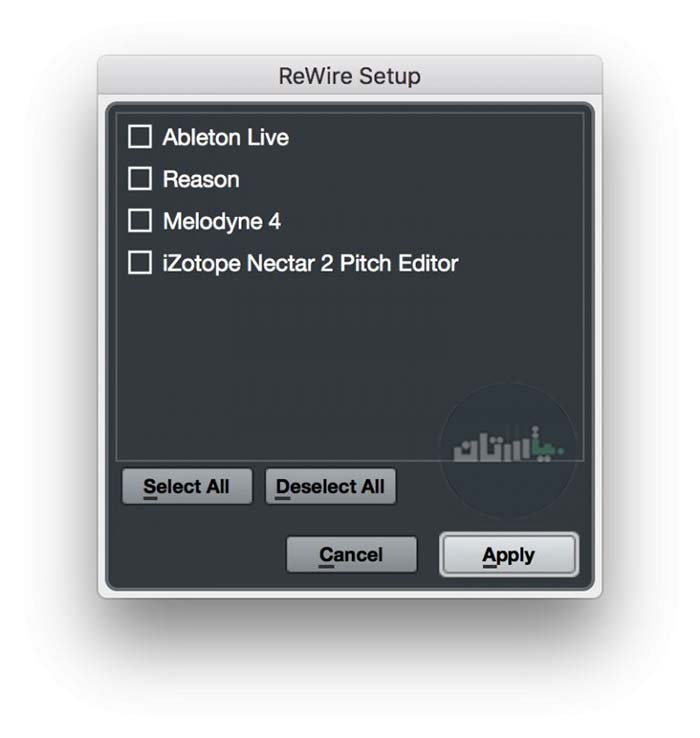 راهاندازی ReWire