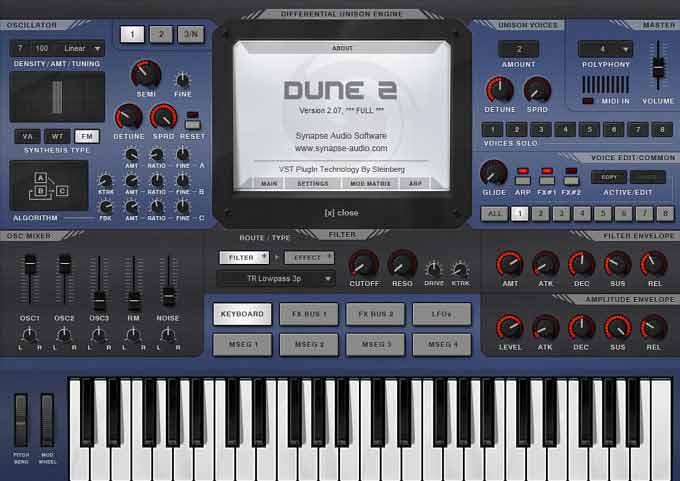 دانلود وی اس تی Dune 2 | دانلود سینتی سایزر Dune 2