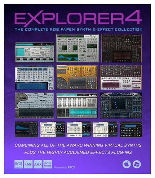دانلود وی اس تی Rob Papen eXplorer 4 bundle