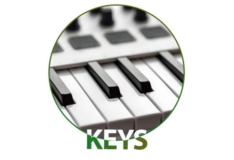 کلیدهای میدی کنترلر