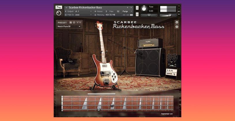 وی اس تی تحت کانتکت گیتار بیس Scarbee Rickenbacker Bass