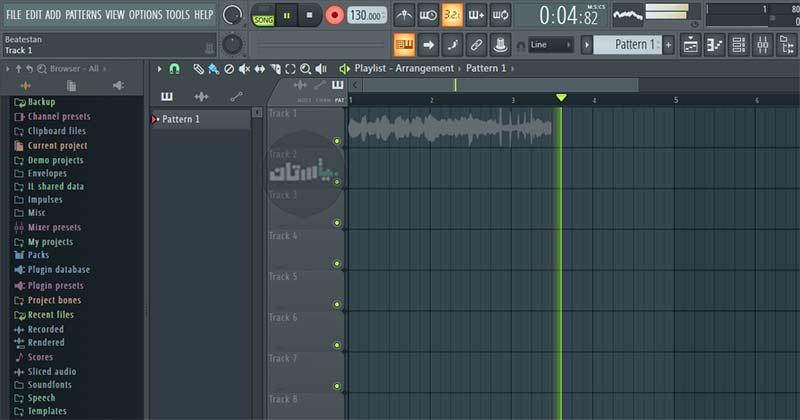 ضبط صدا در برنامه FL Studio