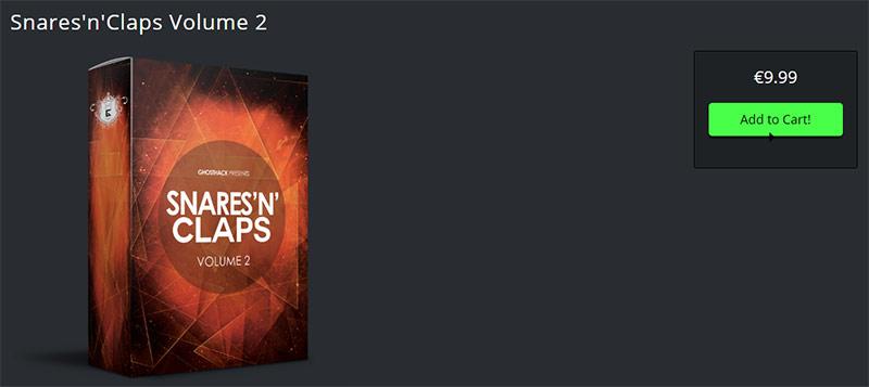 سمپل درام Ghosthack Snares'n'Claps Volume 2