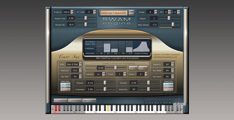 وی اس تی ساکسیفون Audio Modelling SWAM Engine SWAM Soprano Sax