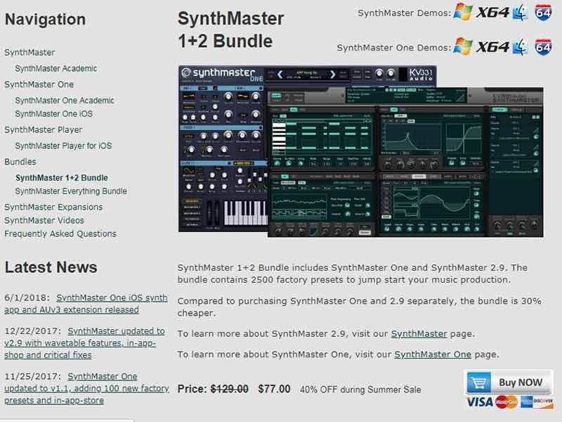 قیمت سینتی سایزر Synth Master One