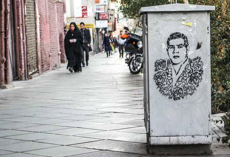 نقاشی خیابانی در تهران | تختی