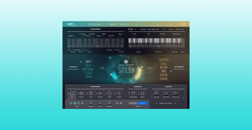 وی اس تی درام UJAM Virtual Drummer Bundle