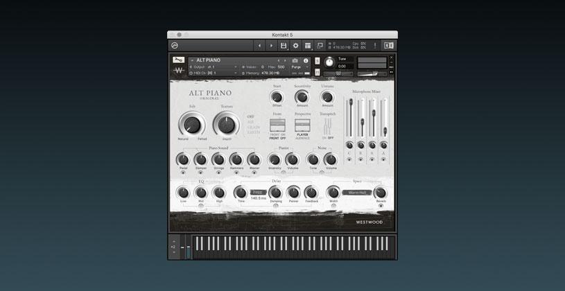 وی اس تی تحت کانتکت پیانو Westwood Instruments ALT PIANO